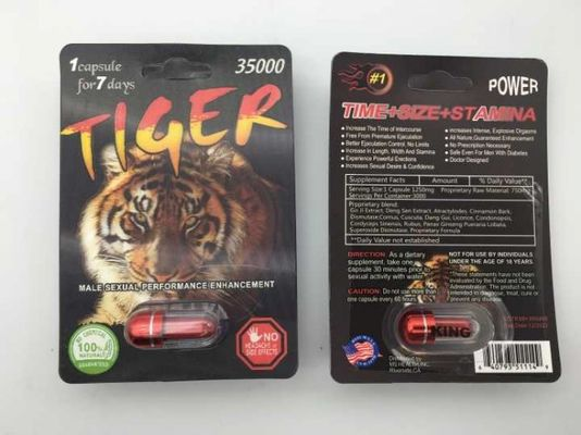 Chiny Tiger 35000 Capsule Sexual Enhancement Pill 3D Male Herb Ingredient 3 lata gwarancji dostawca